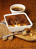 Date pudding with butterscotch sauce