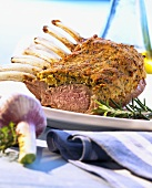 Rack of lamb with mustard crust