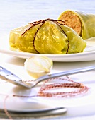 Cabbage roulade with mince filling