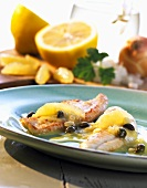 Sole with lemon butter