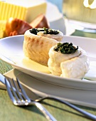 Sole rolls with spinach filling