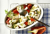 Courgette gratin with feta