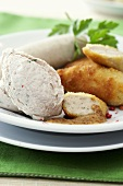 Weisswurst (white sausage), natural and breaded