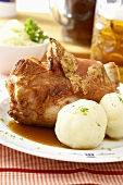Pork Knuckle with Potato Dumplings