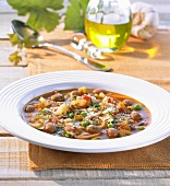 Minestrone (vegetable soup, Italy)