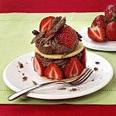 Chocolate fancy with fresh strawberries