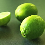 One half and two whole limes