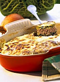 Savoy cabbage bake with minced lamb
