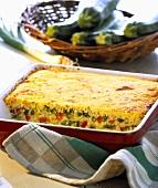 Millet and vegetable bake