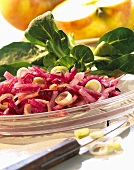 Raw beetroot salad with horseradish