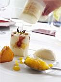 Quark dessert with fruit