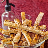 Savoury sticks with sesame and caraway
