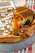 Plum and apricot pie