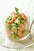 Shrimp and avocado tartare