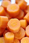 Steamed, sliced carrots