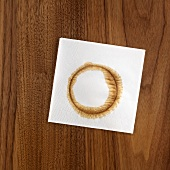 Napkin with coffee ring