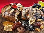 Hutzelbrot (German fruit and nut loaf)