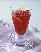 Campari Kirsch with slices of lemon