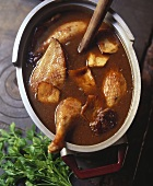 Braised duck with mushrooms