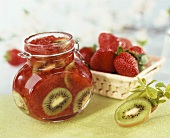 Strawberry and kiwi fruit jam