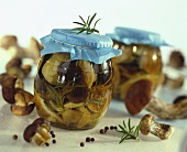Pickled ceps with rosemary