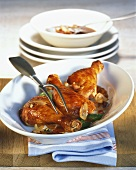 Coq au vin (Chicken in red wine sauce, France)