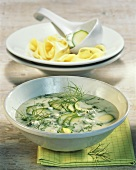 Courgette cream sauce to serve with ribbon pasta