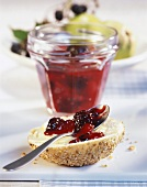 Blackberry and pear jam