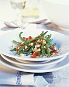 Green beans with diced tomato and breadcrumbs