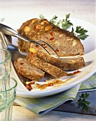 Meat loaf with peppers