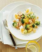 Broccoli salad with egg