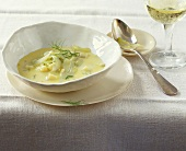 Cheese and fennel soup