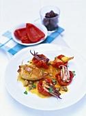 Calamari ripieni (Stuffed squid with shellfish sauce)