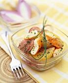 Surimi salad with oranges