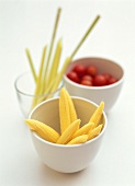Baby corn, lemon grass and cocktail tomatoes