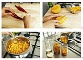 Making mango chutney