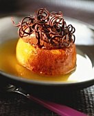 Savarin with chocolate mousse