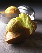 Green madeleines