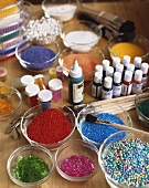 Various ingredients for decorating