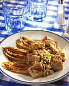 Tripe in beer sauce with chicory