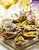 Austern verschieden zubereitet