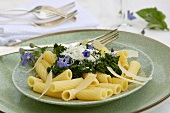 Rigatoni with borage and Parmesan