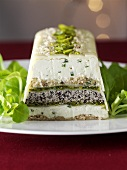 Cheese terrine with nuts