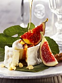 Bouchées fermières with forest honey, walnuts & figs