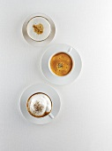 Cappuccino, Café Crema & Café Latte