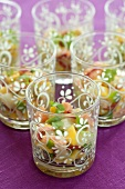 Ceviche (spicy fish dish with vegetables, S. America)