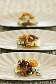 Blue cheese with apricot chutney and pine nuts