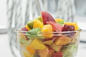 Fruit salad: mango, nectarine and avocado