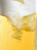 Helles Bier einschenken