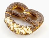 A poppy seed pretzel